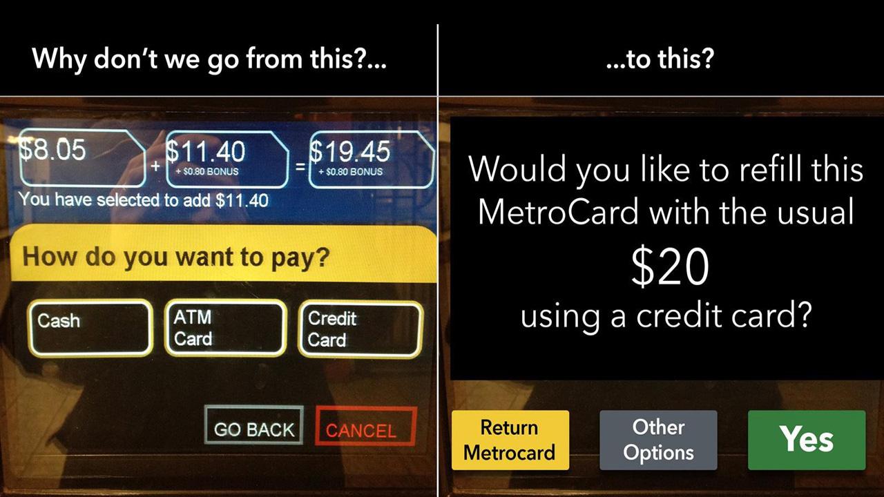 NYC Metro card UI